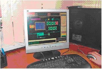 Отображение технологических процессов на мониторе компьютера